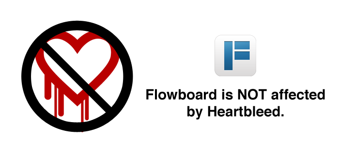 Flowboard is not affected by the heartbleed bug