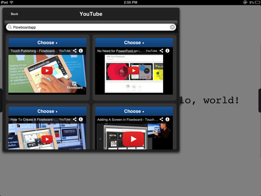 YouTube Integration comes to Flowboard